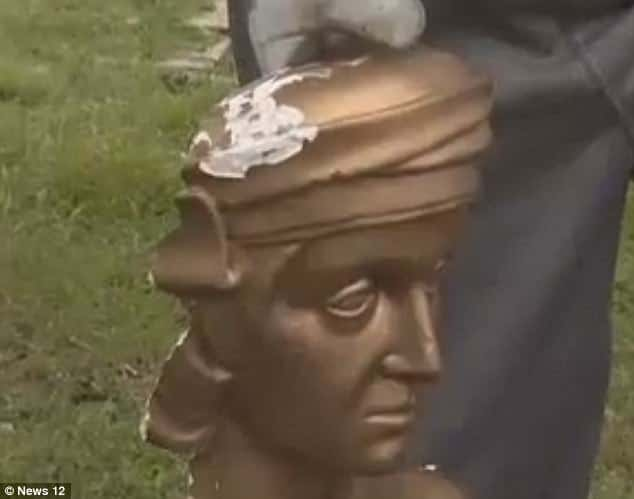 Christopher Columbus Yonkers statue vandalized