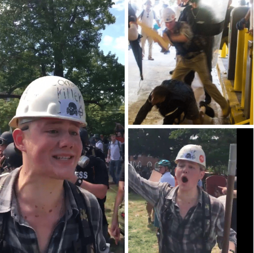 'I'm innocent' Daniel Borden white supremacist arrested with Deandre Harris beating