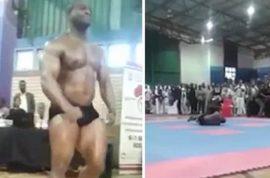 Watch: Sifiso Lungelo Thabete bodybuilder breaks neck and dies in botched backflip