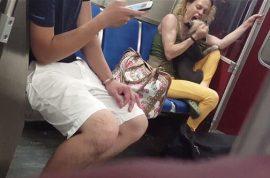 Teresa Rutledge: Toronto subway woman biting her dog goes viral