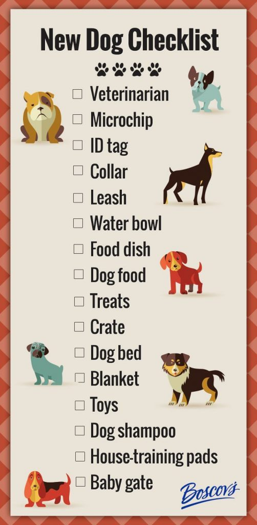 Tips bring new dog home checklist