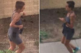 Colorado mad pooper jogger takes shxt on Cathy Budde's front lawn
