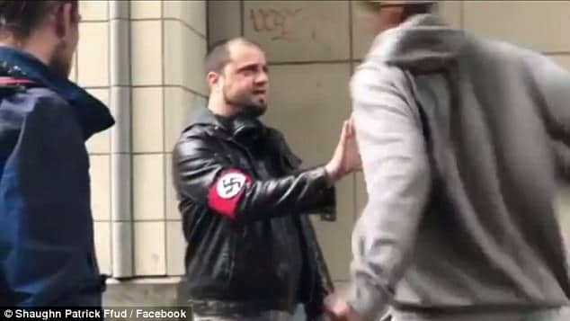 Seattle Nazi punched