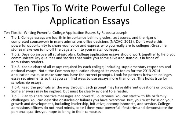 what not to write about in your college application essay