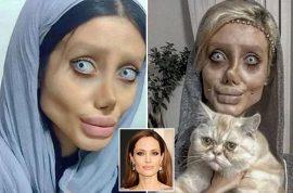 Sahar Tabar: Iranian Angelina Jolie has 50 surgeries to look like her idol (but why?)