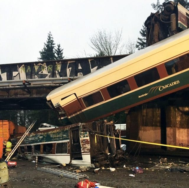 Amtrak train Washington derailment