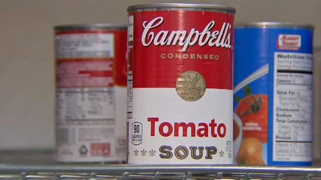 Middleton couple accidentally donate $2500 Campbell's Tomato Soup can. Pictured, Amanda Mattuchio.