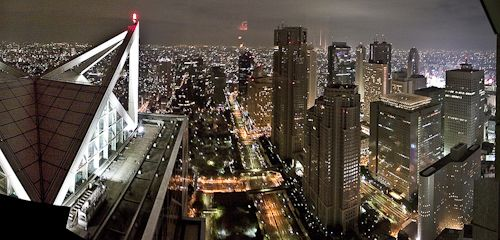 View from the new york bar 52nd floor park hyatt tokyo