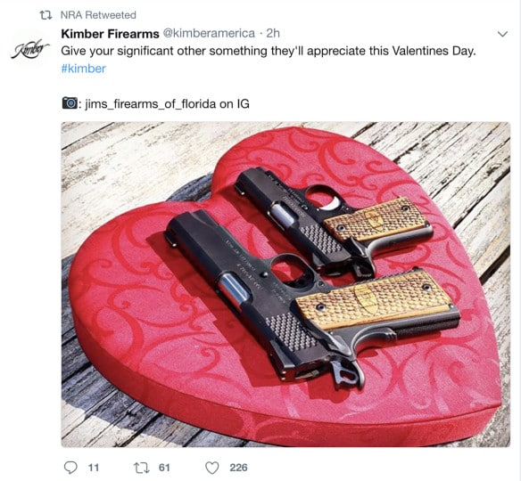School Shooting Florida 2018: NRA Pulls Valentine's Day Gun Tweet After Florida Parkdale