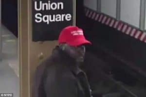Hate crime? Black man wearing Make America Great Again hat pushes Hispanic man onto NYC subway tracks