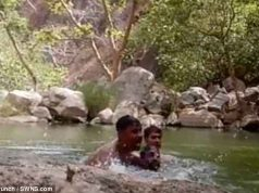 Three Indian men record themselves drowning