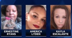 Ernestine Ryans, America Lyden and Kayla Escalante