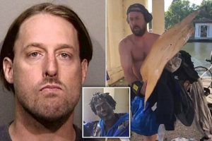 Why? Jogger who trashed homeless man's belongings arrested