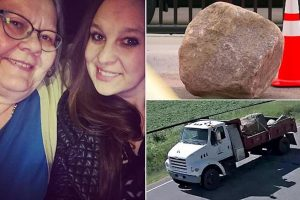 800 pounds: Minnesota driver charged after unsecured rock comes loose kills 2 women