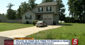 12 year old Kentucky girl poisons 4 year old stepbrother:
