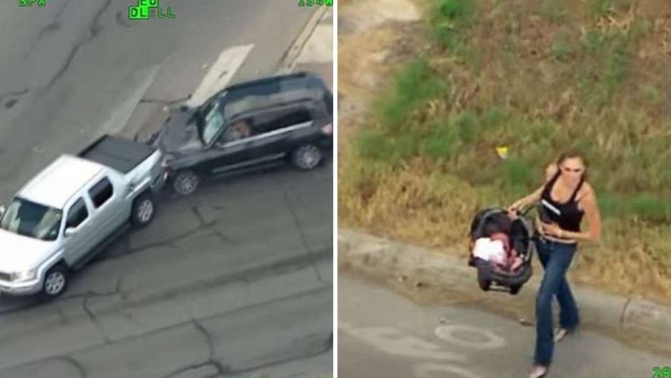 Woman with baby leads police on high-speed chase before crashing