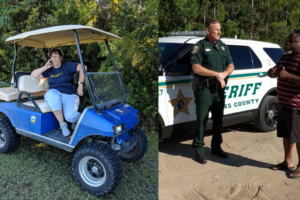 Golfcart Gail calls cops on 'scary' cheering black dad at son's soccer game