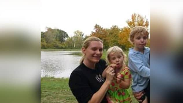 Kate Katsen and her children Zoe and Johnathon