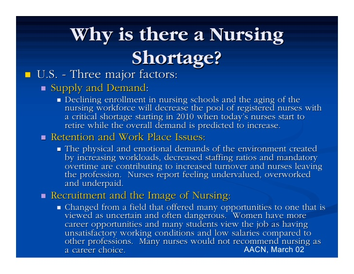 US Nursing Shortage