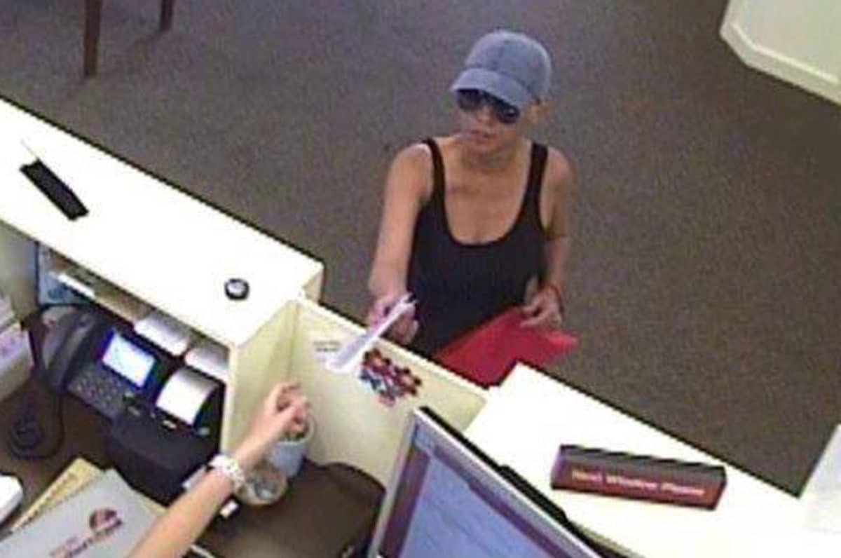 Wanted female bank robber