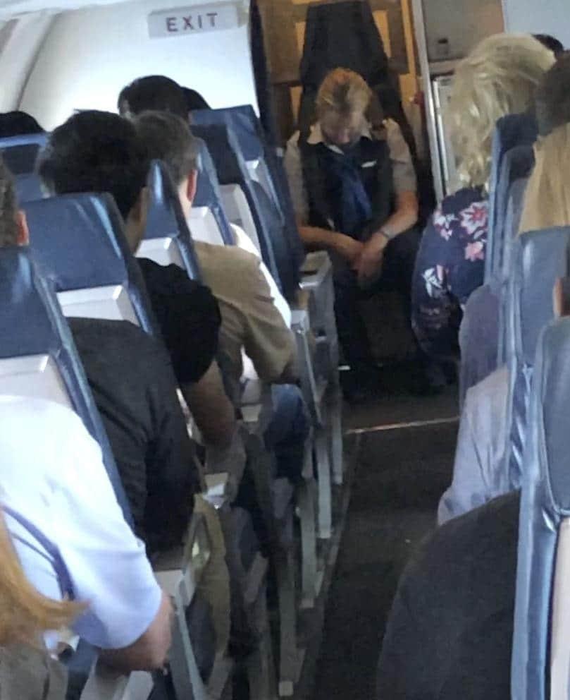 Julianne March United flight attendant