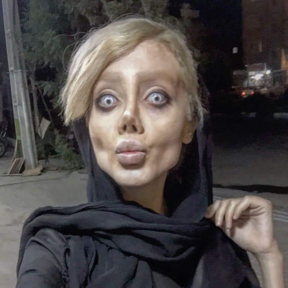 Iranian Instagram Angelina Jolie zombie