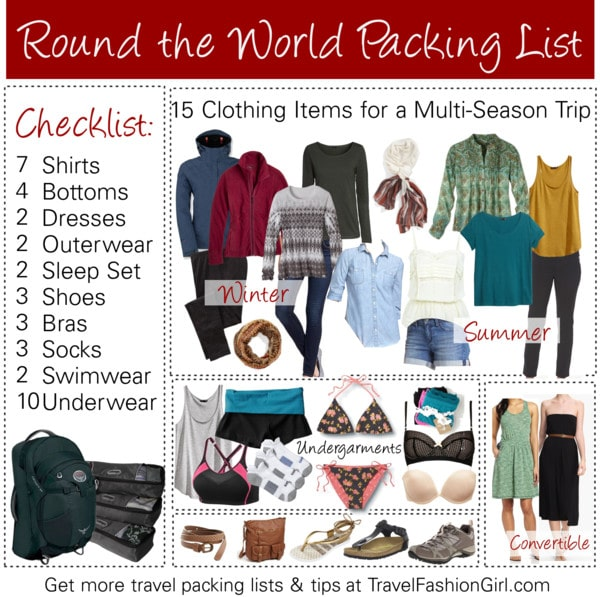 Comfortable clothes and shoes for traveling light