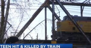 Troutdale teen killed freight train