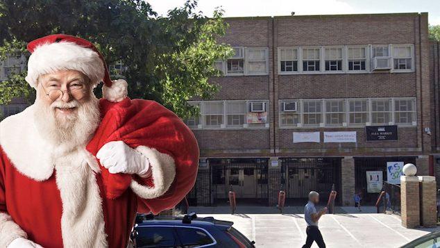 P.S 321 Park Slope teacher Santa Claus