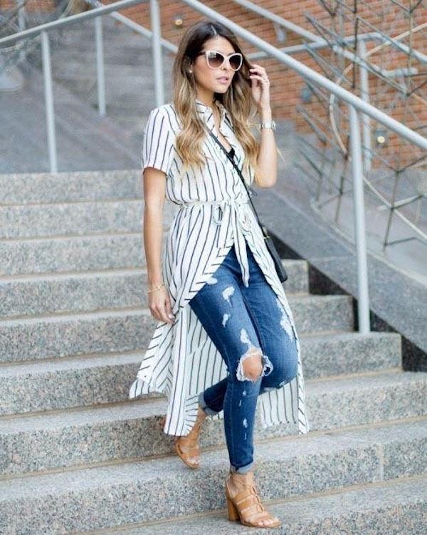 Jeans with kurtas