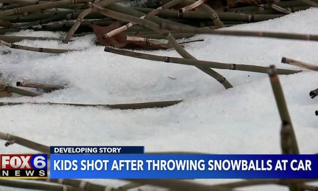 Milwaukee driver shoots 2 teens who threw snowballs at his car