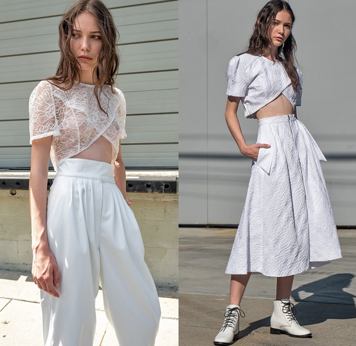 Broderie Anglaise texture Spring fashion 2020