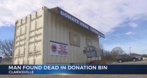 Clarksville Walmart donation bin