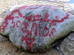 Plymouth Rock red graffiti
