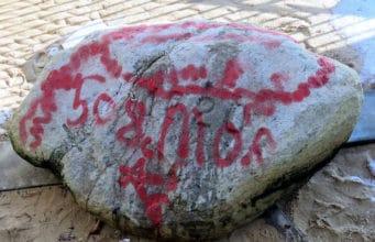 Plymouth Rock red graffiti