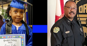 Kaia Rolle and Orlando Officer Dennis Turner