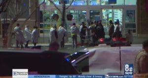 Las Vegas suspect wearing hazmat suit