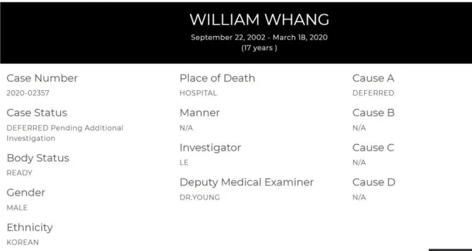 William Whang coronavirus