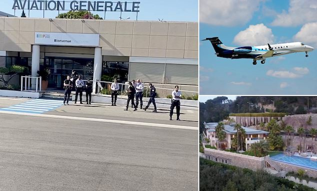 Private jet lands in South of France turned back
