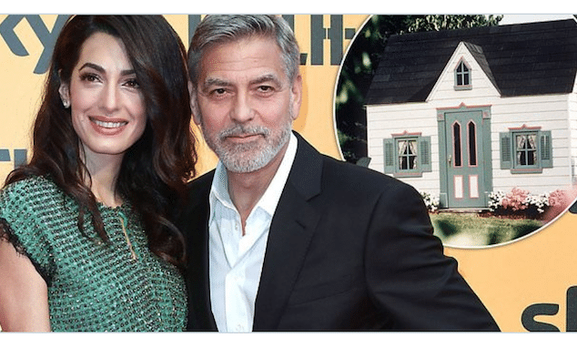 George and Amal Clooney twins playhouse