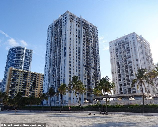 The Quadomain Tower Condominium in Hollywood, Florida,