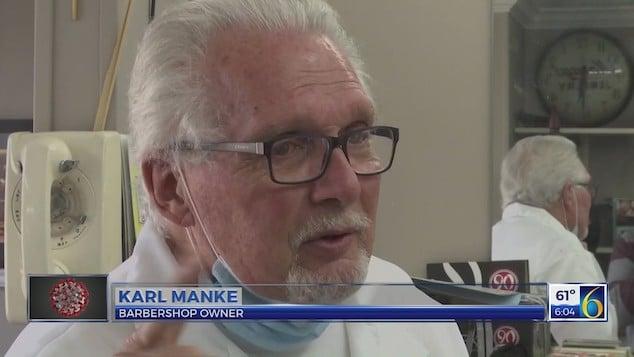 Karl Manke Owosso barber