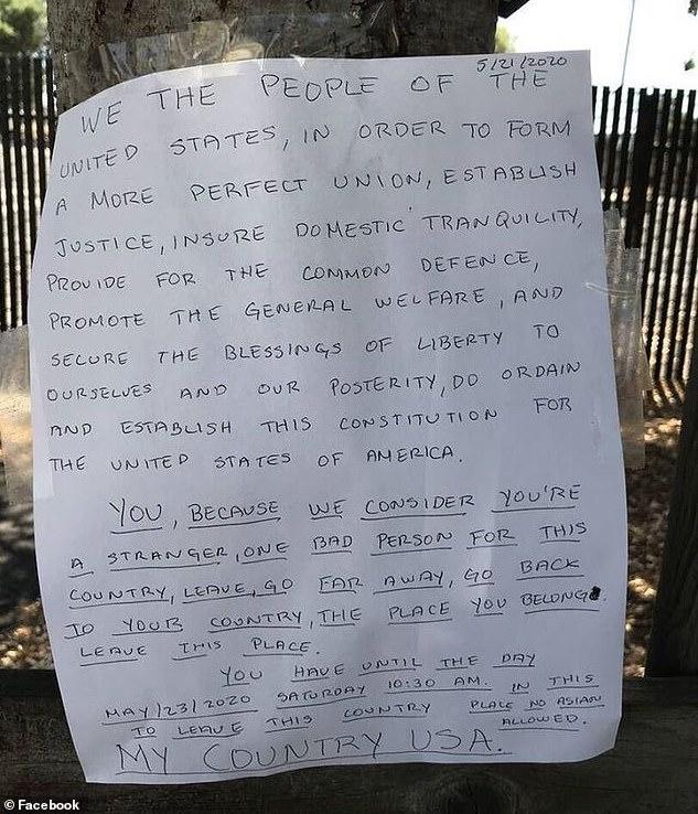 San Leandro racist note
