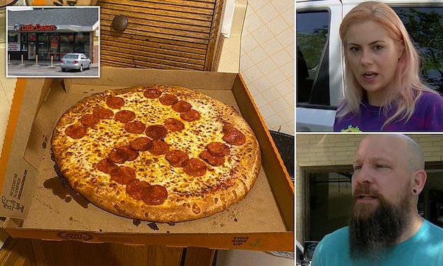 Little Caesars pizza pepperoni swastika