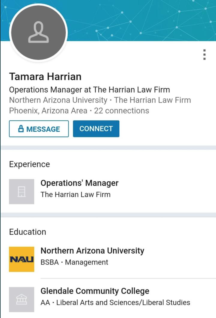 Tamara Harrian Glendale, Arizona woman