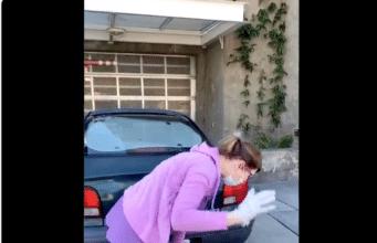 White Karen road rage