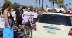 newport beach car protest