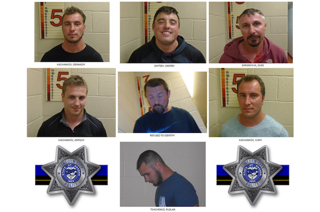 7 Oregon men arrested harassing black family