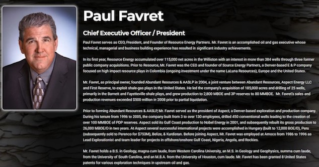 Paul Favret CEO of Resource Energy
