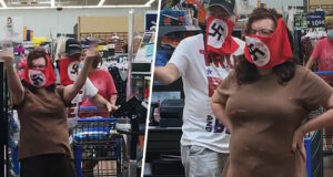 Minnesota couple wear swastika face mask Walmart store